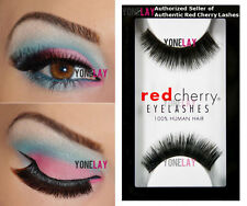 Lot 12 Pairs GENUINE RED CHERRY #79 Jewels False Eyelashes Human Hair Lashes