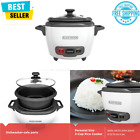 3 Cup Electric Rice Cooker Keep Warm Function Automatic White, Nonstick Rice Pot photo