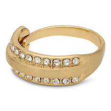 Pilgrim Jewellery Gold Plated & Crystals Adjustable Ring + Gift Bag, for her