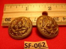 2 Civil War Brass Authentic Good Condition Buttons 2 large