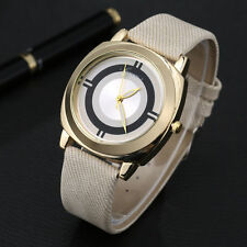 Ladies Fashion Classic Gold Quartz Beige Band Dress Wrist Watch.(Aussie Seller)
