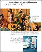 1967 38 y-o Housewife teenager Ivory liquid soap vintage photo print Ad   adL7
