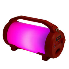 10W Wireless Bluetooth Speaker Portable Stereo Outdoor Usb Tf Colorful Led -Red