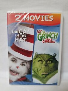 Dr. Seuss' How The Grinch Stole Christmas / The Cat In The Hat DVD  NEW
