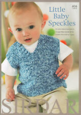 Little Baby Speckles Book Knitting Patterns Sirdar 416 Snuggly DK Children 0-7yr