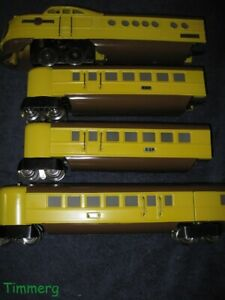 Lionel 636W Union Pacific City of Denver Yellow & Brown O Gauge Streamliner Set