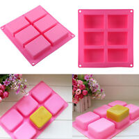 Rectangle Soap Mold Silicone Craft Making Homemade Cake Mould Kitchen Tool HG