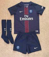 Boys Paris Saint Germain home football kit size 5-6 years Nike 2016-2017