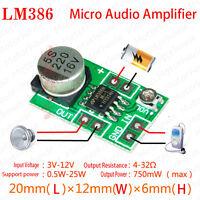 DC 3V~12V 5V Mini LM386 Audio Power Digital Amplifier Board Micro Amp Module