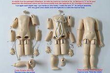 Corps 40 cm   de poupée ancienne en bois reproduction d'ancien