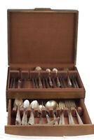 Simeon L & George H Rogers Silver Rose Lot of 81 Silver Plate Flatware w/ Case