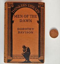 Männer der Morgenröte 1930s Buch Davison Denker Bibliothek Archäologie Pre-Geschichte