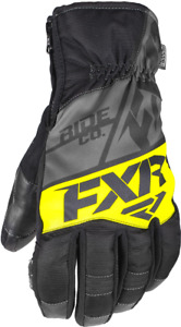 FXR MENS FUEL SHORT CUFF BLACK/HiVIS COLD WEATHER SNOW WINTER GLOVES - M or 2XL