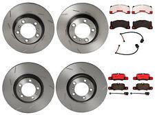 Brembo Front & Rear Brake Kit Disc Rotors Ceramic Pads Sensor For Panamera 10-16