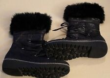 Cynthia Rowley Girls Black/Glitter Boots Shoes Size 4 (SS3-31)