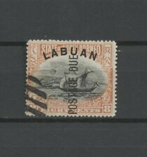 """No: 69518 - NORTH BORNEO - AN OLD STAMP w. OP. """"LABUAN/POSTAGE DUE"""" - USED!!"""