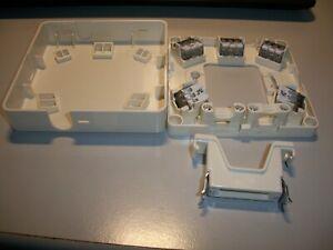 Klein 2-fach Herdanschlussdose AP/UP (M21.) 1 Stück , weiß mit Zugentlastung