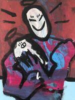 Hasworld Original,painting,signed,Pop Art,Expressionist,abstract Graffiti Alien