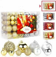 100PC/Box Christmas Tree Ornaments Mini Shatterproof Holiday Ornaments Balls