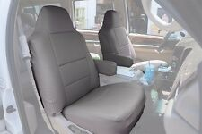 FORD EXCURSION 2000-2005 GREY S.LEATHER CUSTOM MADE FIT FRONT SEAT COVER