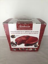 Sunbeam Electric Fortune Cookie Maker Red Rare & Discontinued New