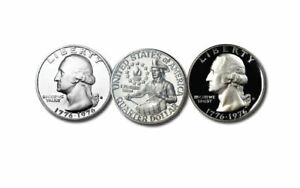 (2) 1976 S Washington Quarters Bicent 1 S Silver Gem And 1 S Proof Deep Cameo