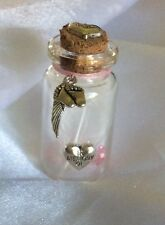 Memorial Infant / Child Loss Miscarriage - Angel Baby Memory Bottle - Girl Pink