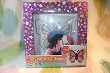 Toy Kraft Children's Learn to Cross Stitch Craft Kit! Create Butterfly Decor!