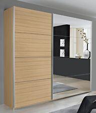 Camera armadio 2 ante scorrevoli Eiche Sonoma/specchio 136 cm