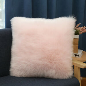 Luxury Fluffy Soft Cushion Fluffy Shaggy Covers Pillow Case Home Bed Sofa Decor