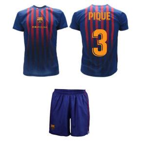 Completo Pique 2019 Barcelona Ufficiale Barcellona 2018 FCB Maglia Pantaloncini