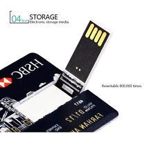 32GB 16GB Credit Card USB 2.0 Flash Memory Stick Storage Thumb U Disk Pen Drive