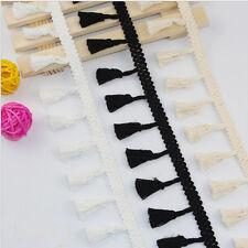 1/5/10Yards Vintage tassel Edge Trim Ribbon Bridal Sewing DIY Embroidered Craft