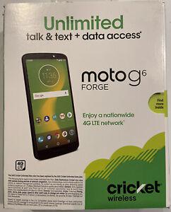 Cricket Wireless Motorola Moto G6 Forge 16GB Prepaid Smartphone, Deep Indigo NEW