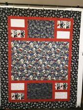 "Birdhouses/Pine Cones/Winter Themed Fabric Handmade Quilt-Top (54.5"" x 70.5"")"