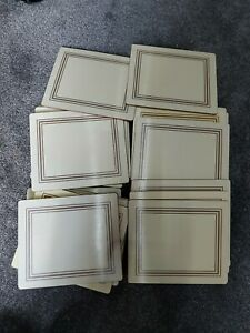24 Place Mats, Cream  And bronze By Lady Clare,  used