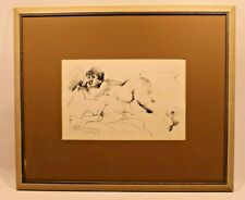 Signed Autographed VTG Art Framed Rosemarie Beck Nude Vincent Price Collection