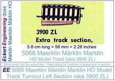 EE 5068 EXC Marklin HO Model Track Turnout LH Curve Stub Section (aka 3900 ZL)