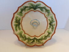 Fitz and Floyd Classics Fish Market Clain Shell & Seaweed Scalloped Plate