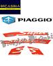 """67333600A5 - SET ETIQUETAS """"SUPER"""" ROJO BLANCO PIAGGIO VESPA GTS 125 150 300"""