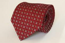 JOSEPH ABBOUD Quality Silk Tie Made in Italy.  Red with Gray Floral