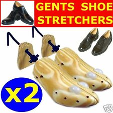 2 x MENS SHOE STRETCHERs *New Wooden 2 Way* Shoes Width
