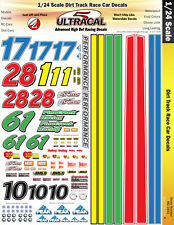 MG3443 - 1/24 High Def Dirt Track Race Car UltraCal Decals