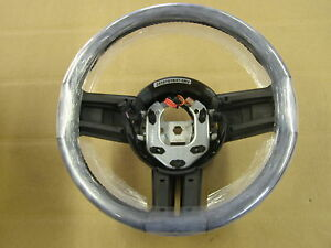 NOS OEM 2010 - 2013 Ford Mustang Steering Wheel Blue Stiching Leather 2011 2012