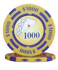 100pcs 14g Yin Yang Casino Table Clay Poker Chips $1000