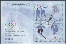Finland 1994 Used Sheet - Winter Sports - Olympics -  First Day Cancel