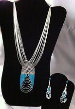 Sleeping BeautyTurquoise Necklace, Earrings Set, Sterling Silver ~ Zuni