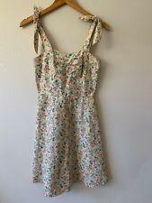 Simple Treasures Dress Handmade In Australia Vintage Pinup Style Floral Size 6