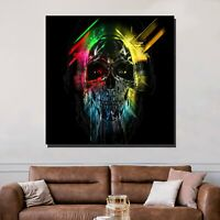 Psychedelic Skull Skulls and Dark Art Canvas Print for Wall Decor