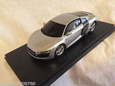 KYOSHO Dnano ASC MM, SILVER AUDI R8 2006, 1:43 DISPLAY MODEL, DNX507S